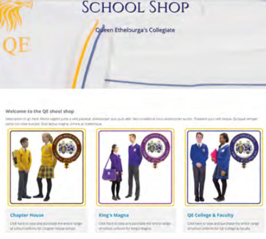 School Shop at Queen Ethelburg College